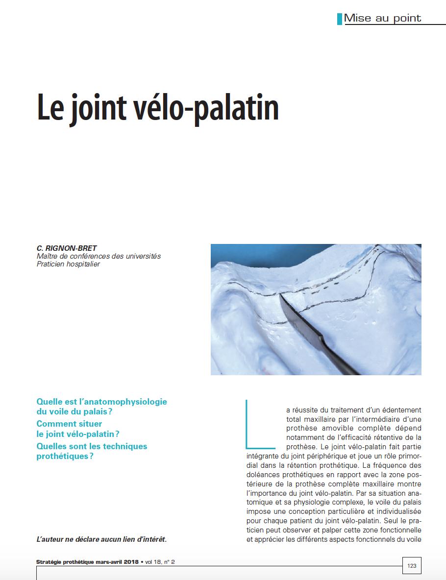 Joint velo-palatin dr rignon-bret